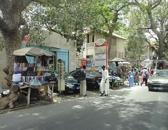 Photo of a Senegalese street.