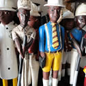 Photo of hand painted wooden figures.